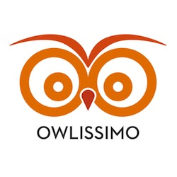 Owlissimo logo - orange 250 x 250