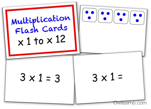 Owlissimo multiplication flash cards