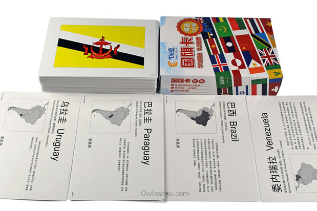 World Flags flash cards (back)