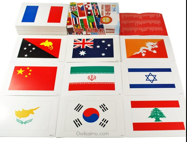 World Flags flash cards (front)