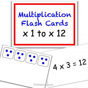 Flashcards - Mathematics Multiplication product image