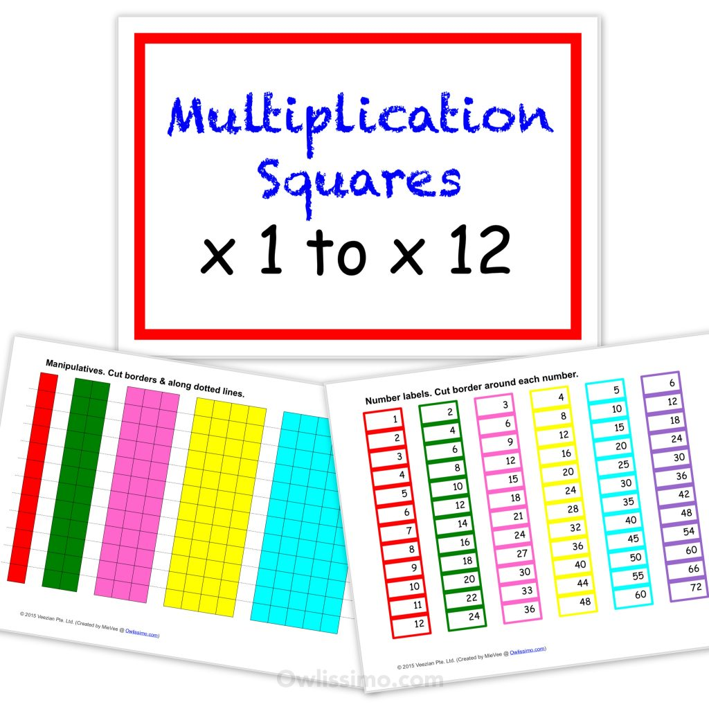 photograph relating to Multiplication Squares Printable titled Printable Multiplication Squares