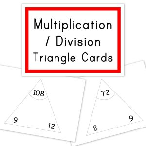 Singapore Math - Multiplication Division triangle cards