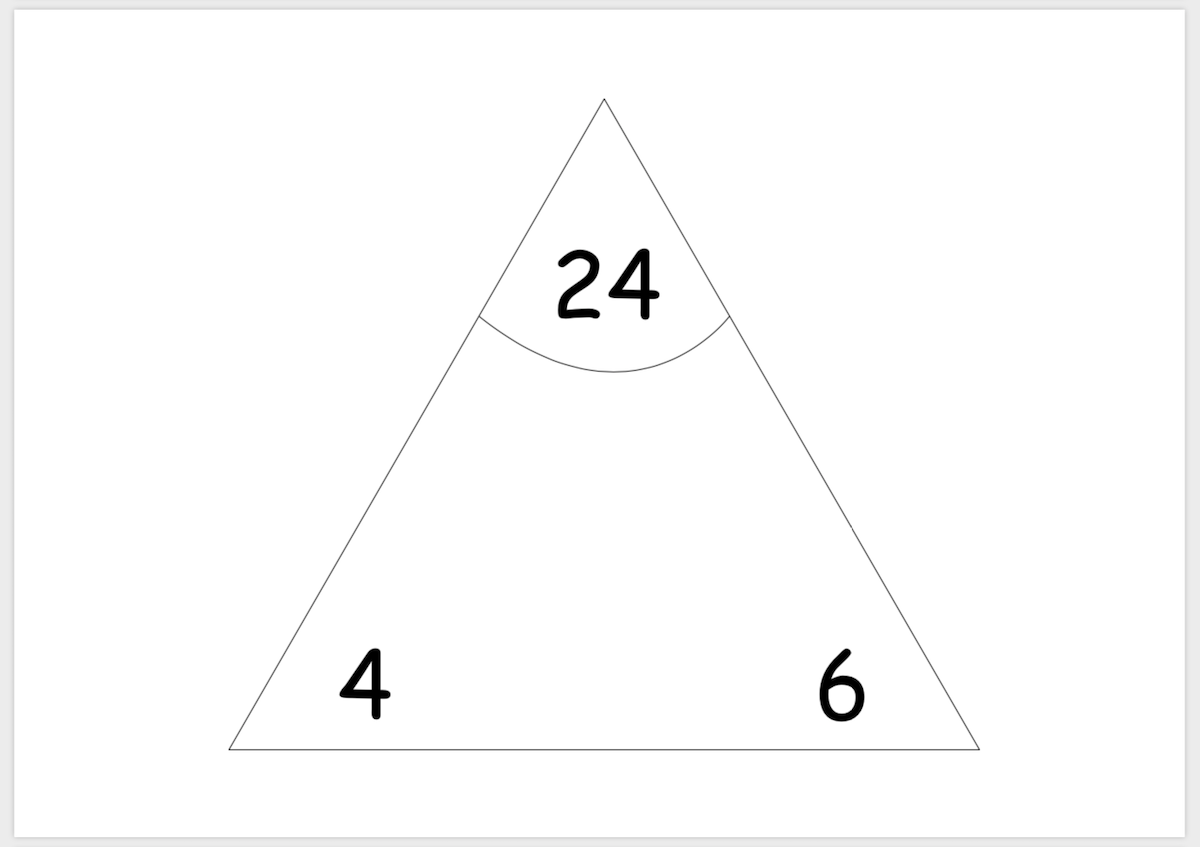 Multiplication division triangle cards card 3