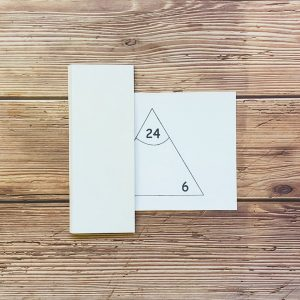 Singapore Math - Multiplication Division triangle cards revision quiz