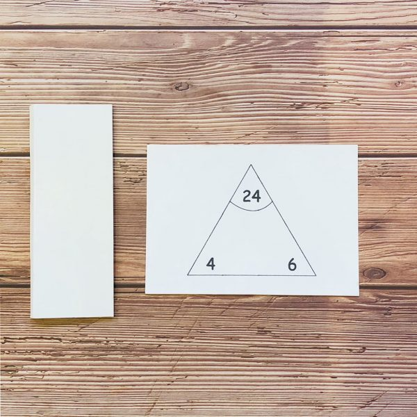 Singapore Math - Multiplication Division triangle cards side card