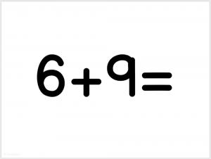 printable flashcards math addition equation