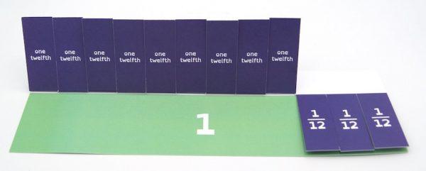 Model Fractions bar model cards 12