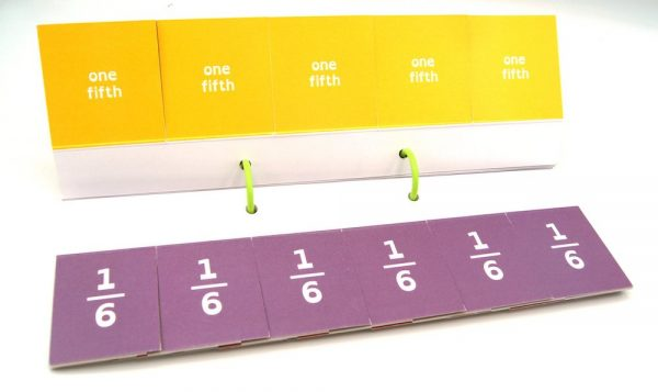 Model Fractions bar model cards 5 6