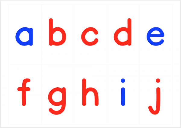 Printable Montessori Movable Alphabet - Large
