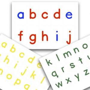 Printable Montessori Movable Alphabet - Large & Small Bundle cover