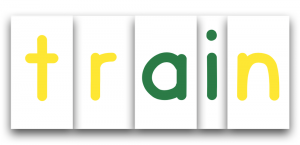 Printable Montessori Movable Alphabet - sample train